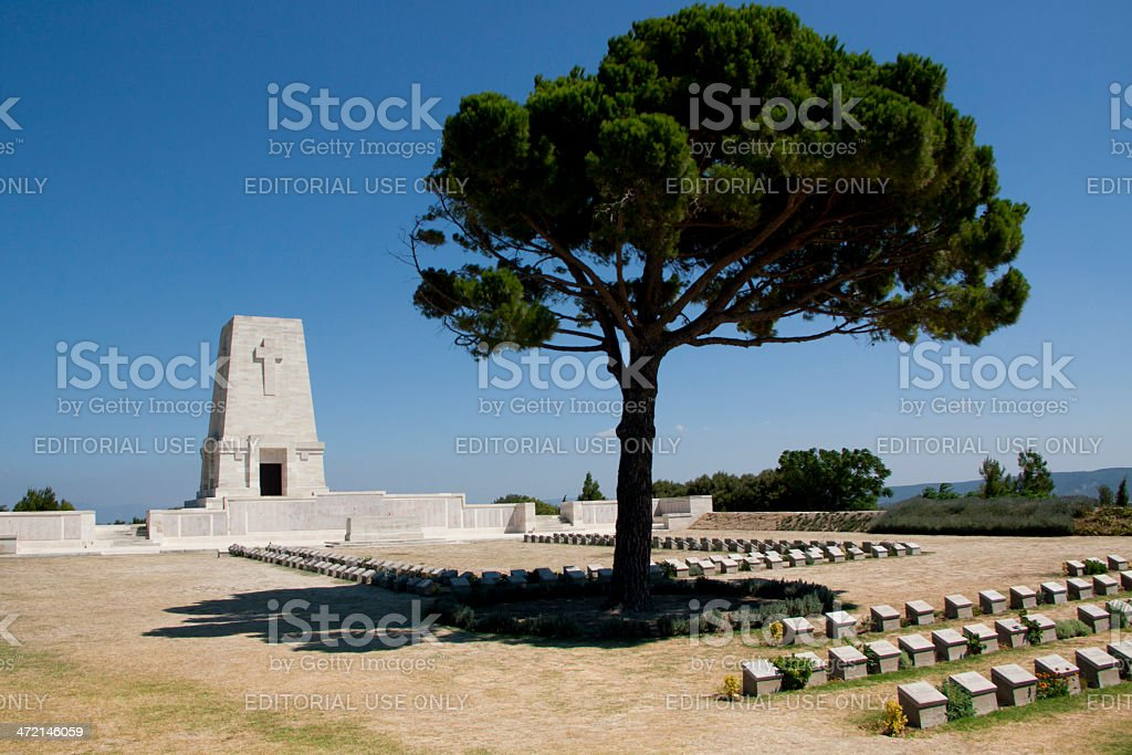 The Lone Pine Cemetery, Gallipoli Peninsula, Turkey stock photo