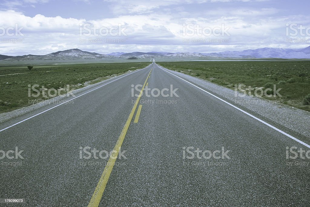 The Loneliest Road in America royalty-free stock photo