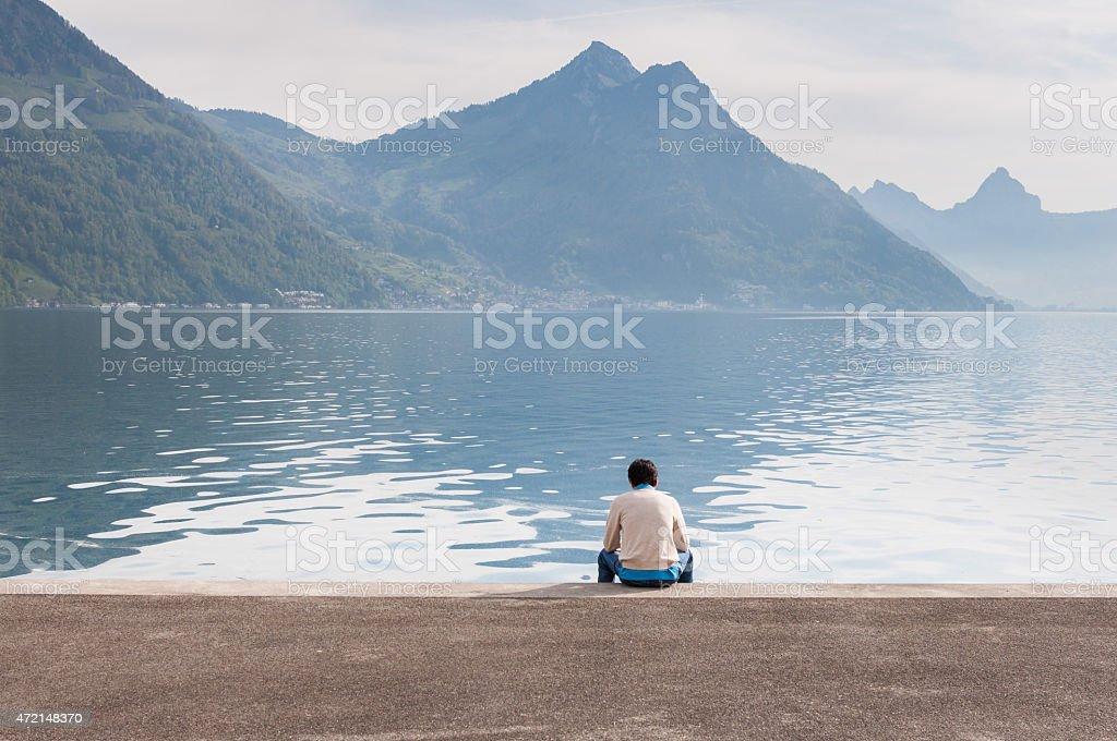 La solitude photo libre de droits