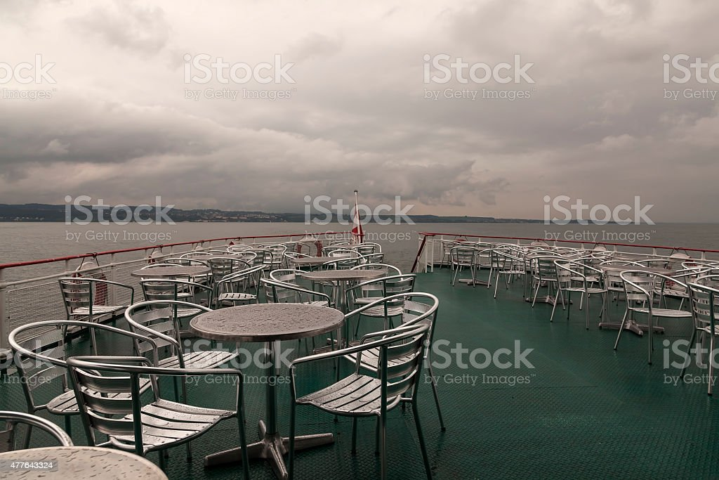 The lonely boat ride royalty-free stock photo