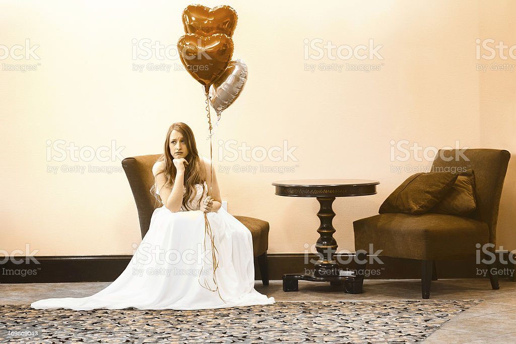 The Lonely Bride stock photo