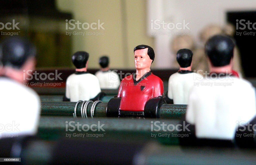 The Lonely Foosball Man stock photo
