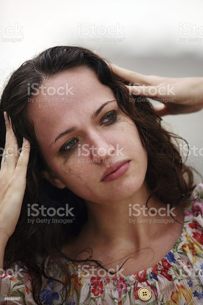 The lonely girl royalty-free stock photo