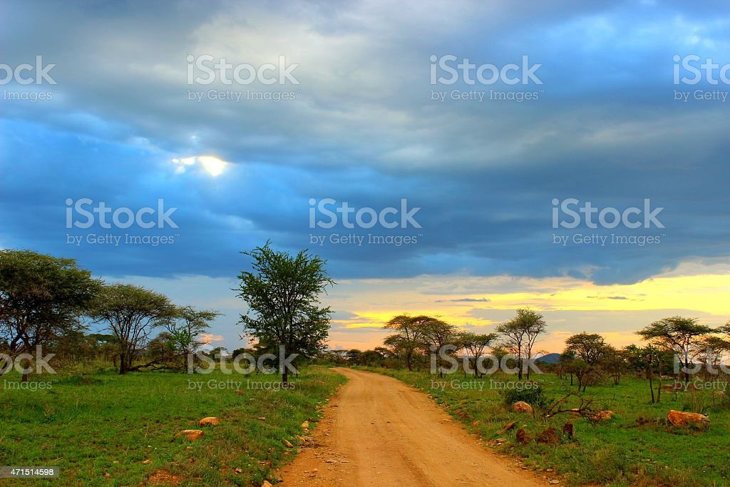 The long and winding road stock photo