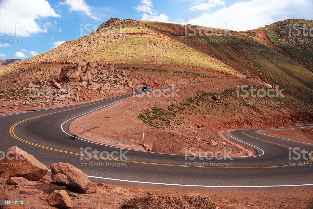 The long and winding road... stock photo