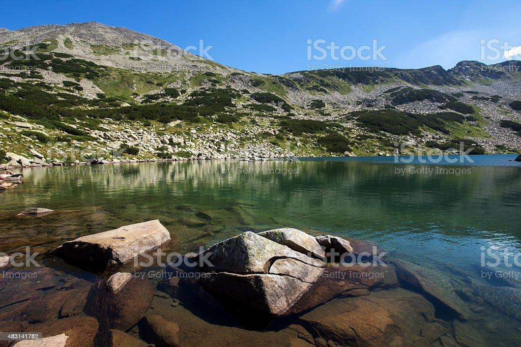 The Long Lake, Pirin Mountain stock photo