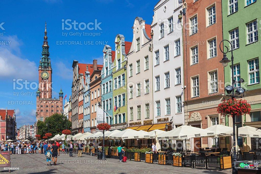 The long market in Gdansk stock photo