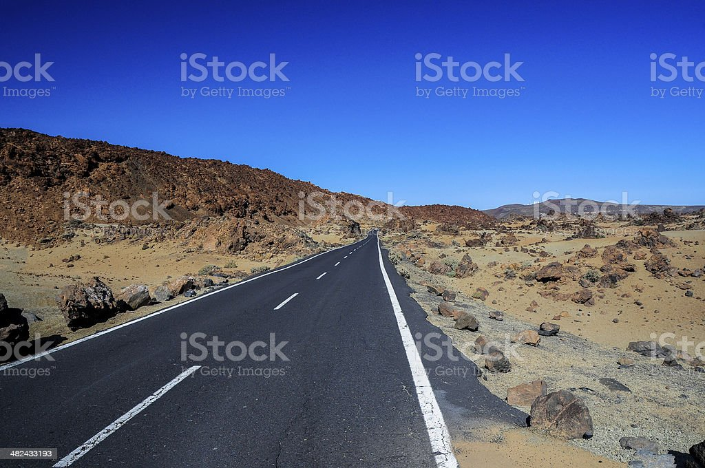 The long open road royalty-free stock photo