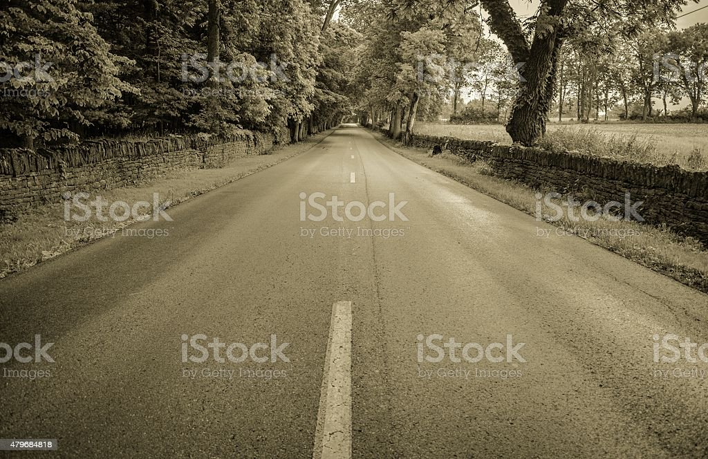 The Long Road Home stock photo