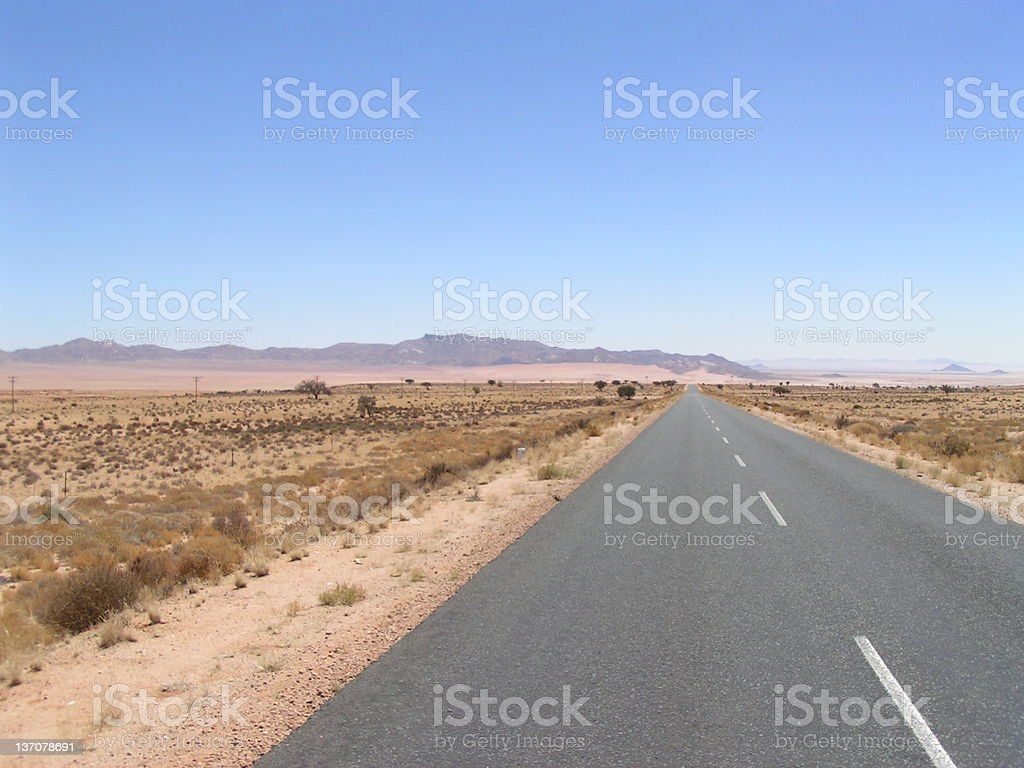 The Long Road royalty-free stock photo