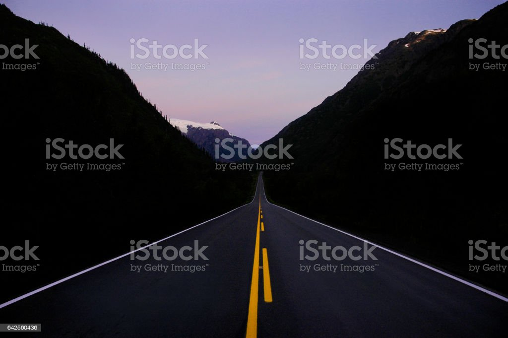 The long road stock photo