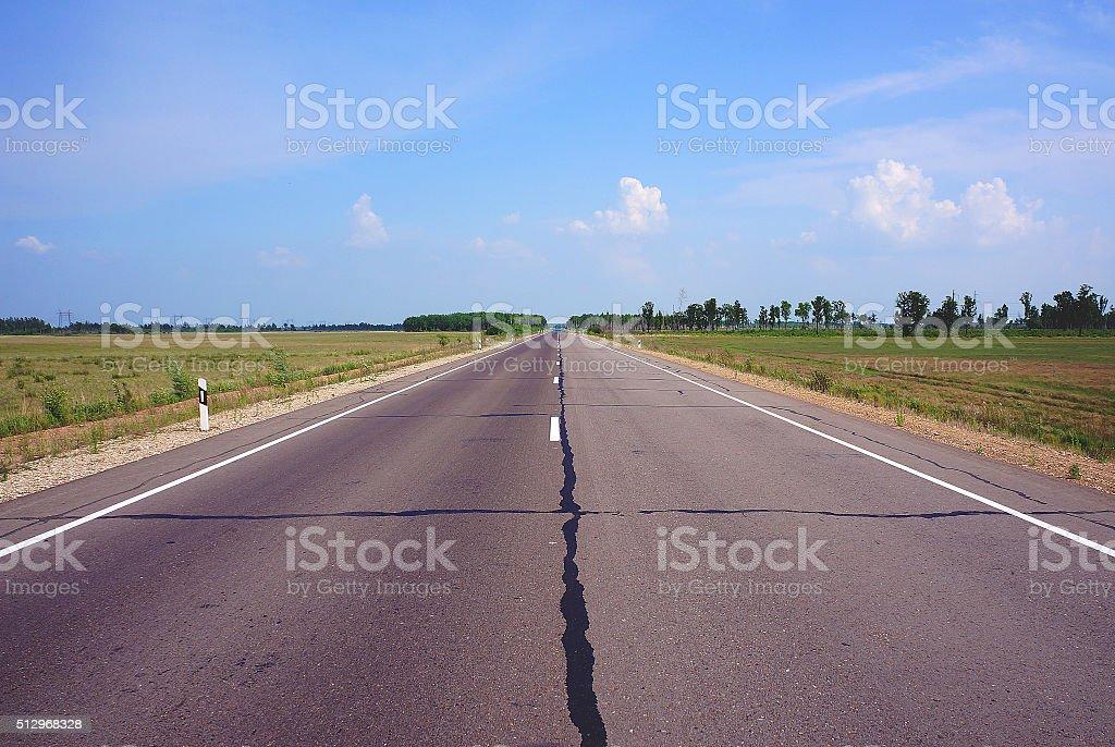La longue route jusqu'à la Russie photo libre de droits