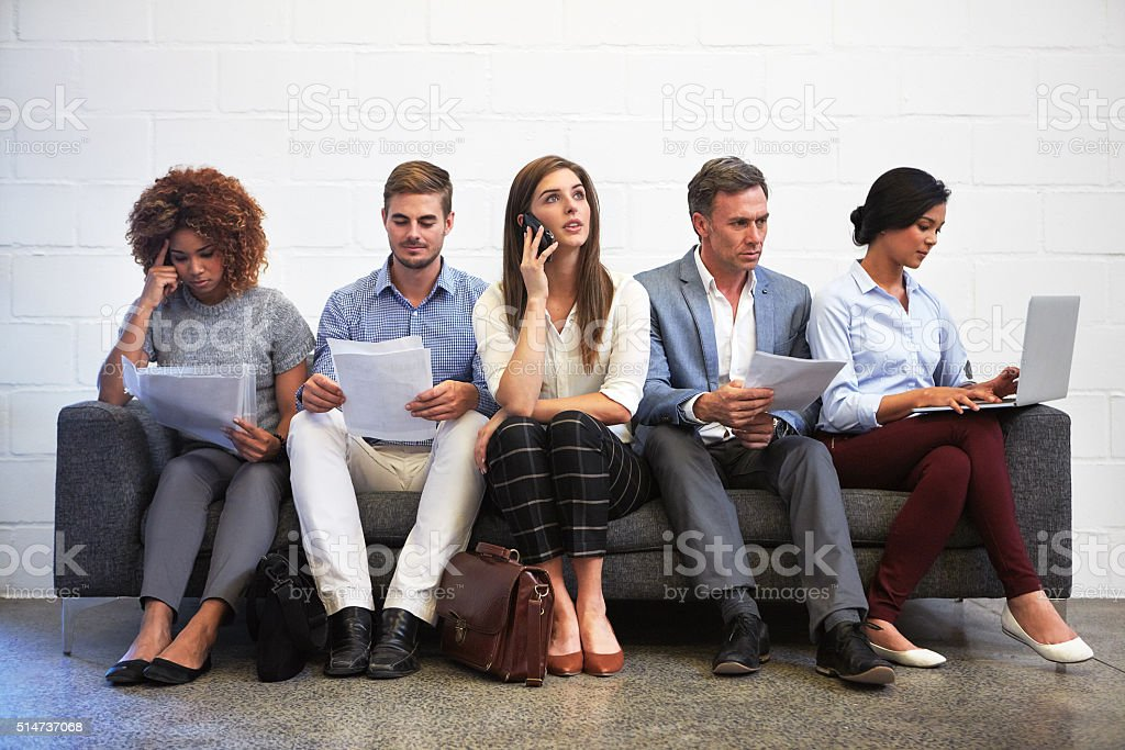 The long wait... stock photo