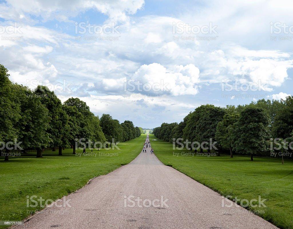 The Long Walk at Windsor, UK stock photo