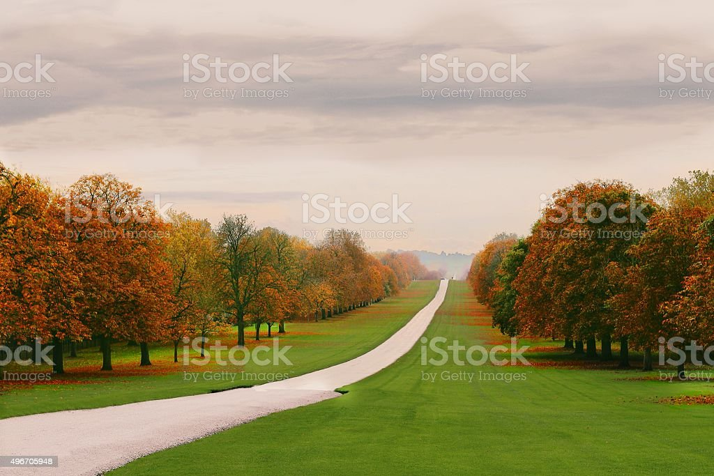The Long Walk stock photo
