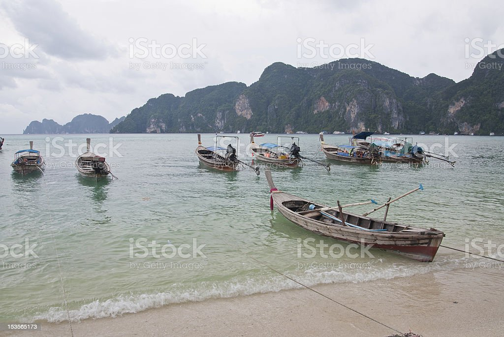 The longtail boats royalty-free stock photo