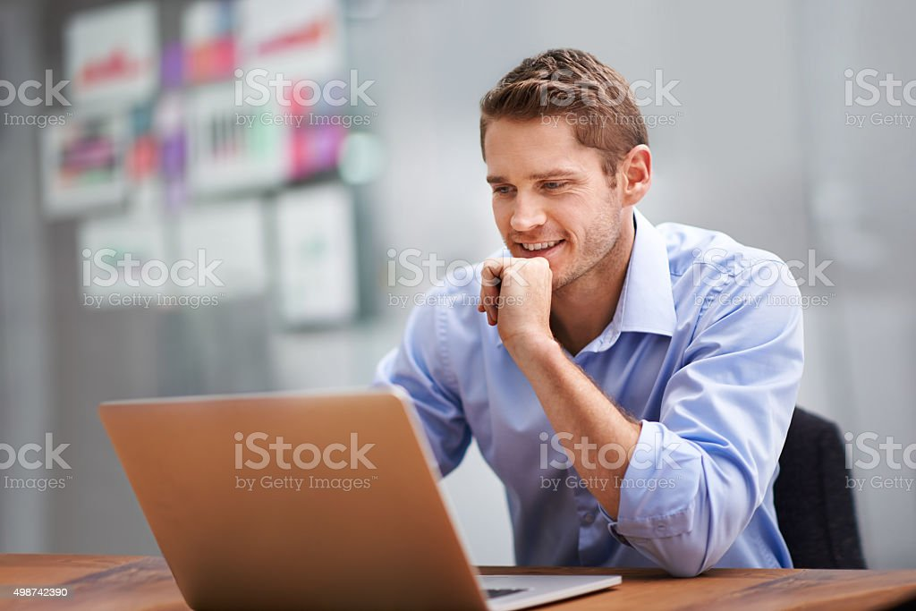 The look of total job satisfaction stock photo