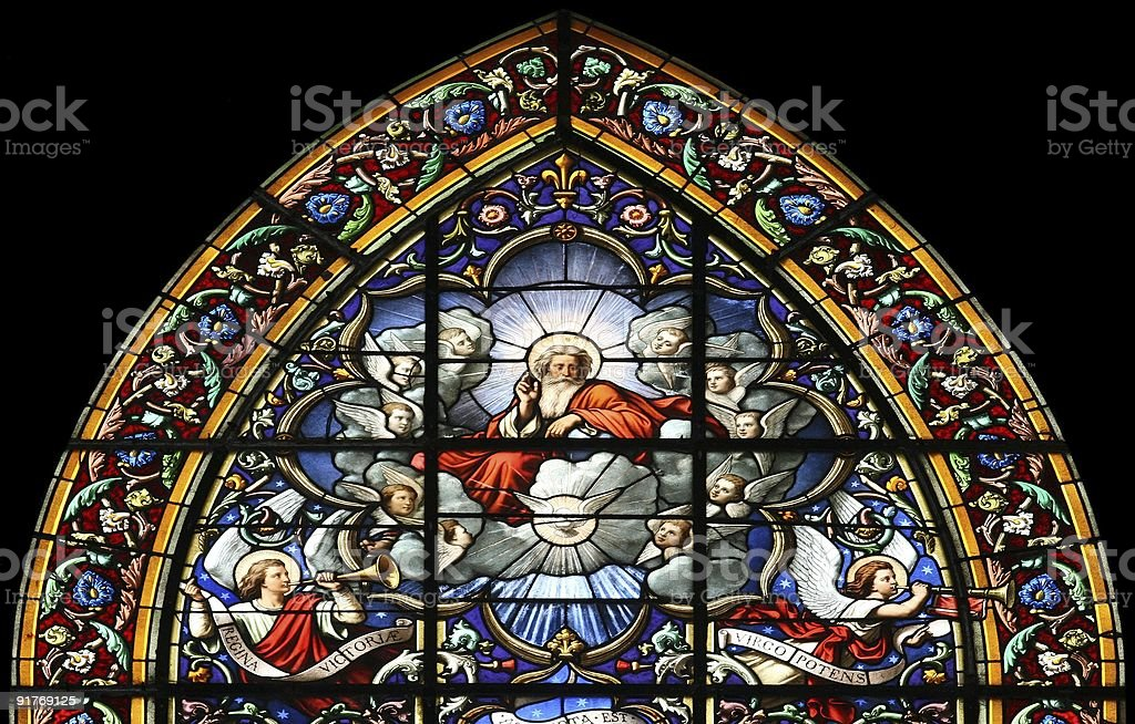 The Lord God Almighty (stained glass window) royalty-free stock photo