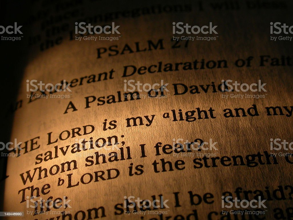 The Lord is My Light stock photo