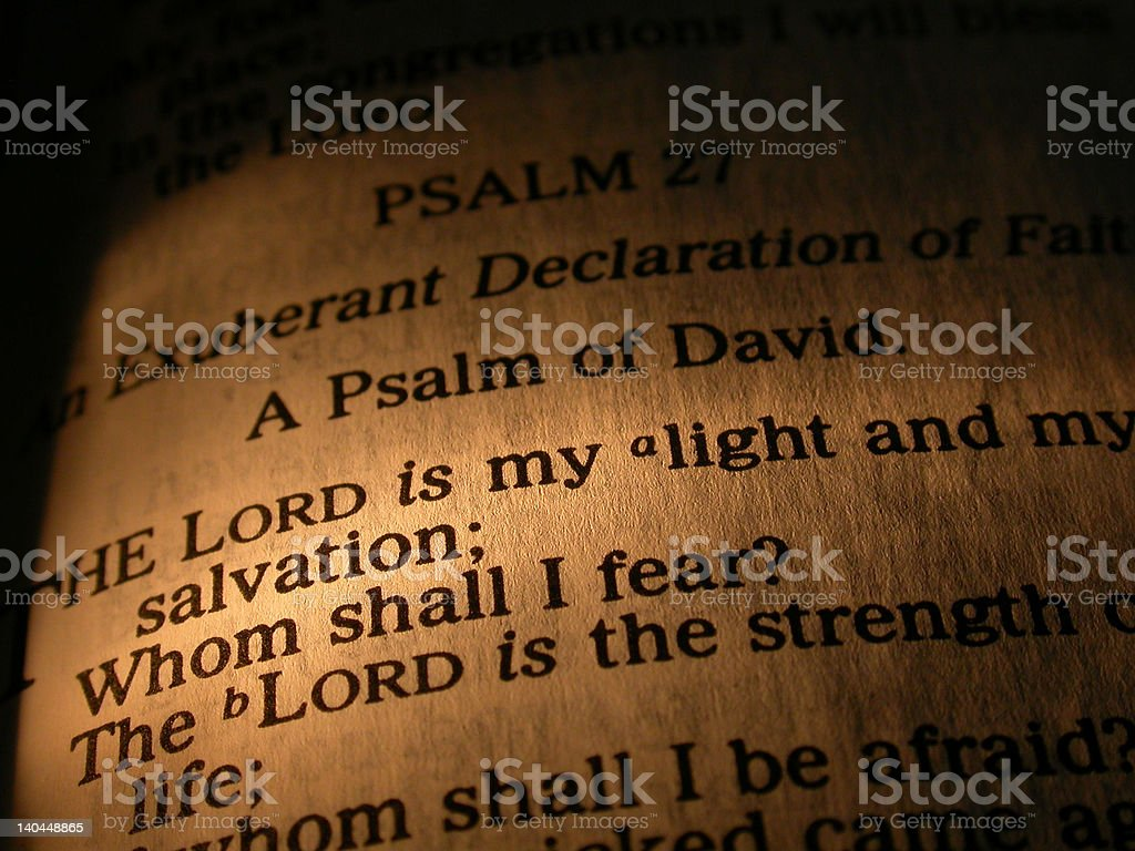 The Lord is my Light royalty-free stock photo