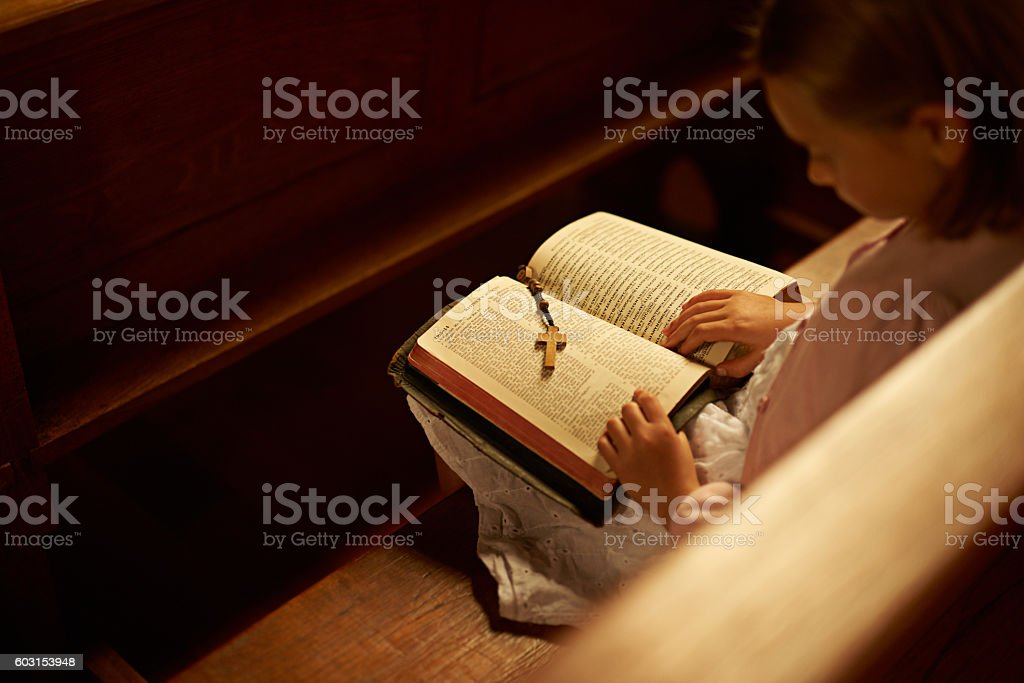 The Lord preserves the faithful stock photo