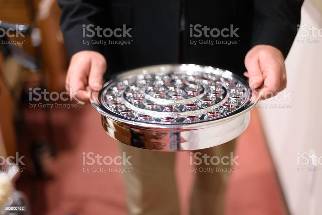The Lords Supper stock photo