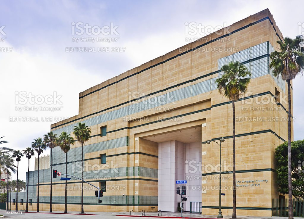 The Los Angeles County Museum of Art. stock photo