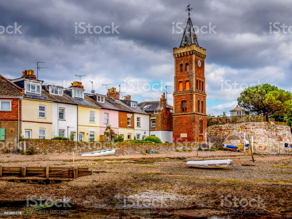 The lost and lonely tower stock photo