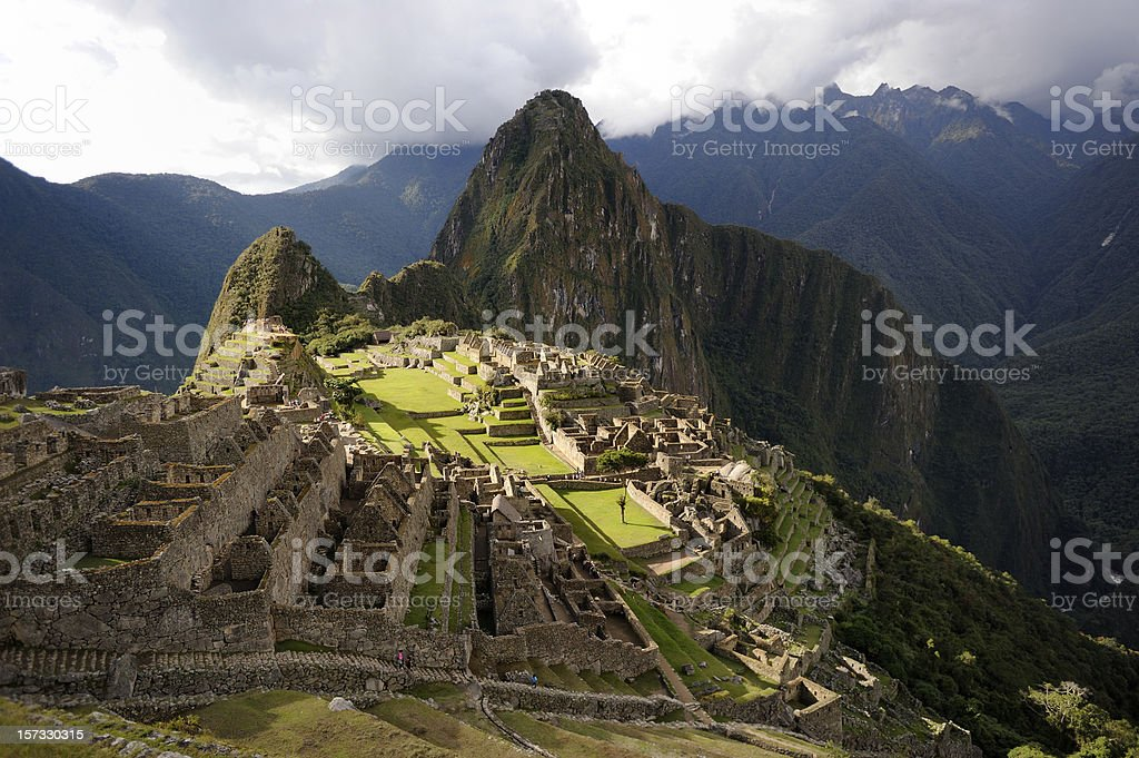 The lost Inca city of Machu Picchu stock photo
