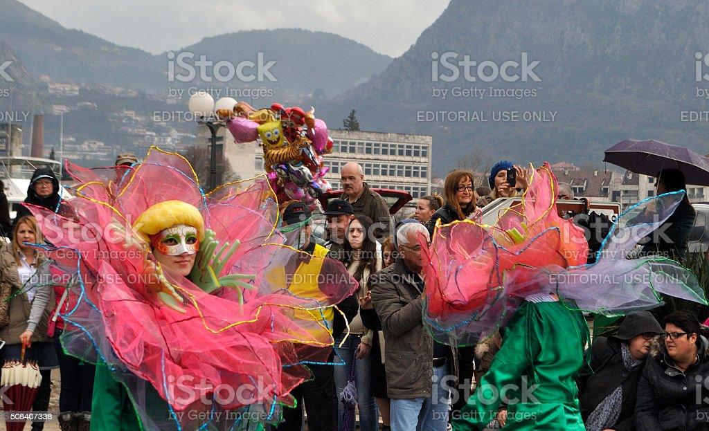 Z Oradei Lotos dziewczyny w karnawałowe. zbiór zdjęć royalty-free
