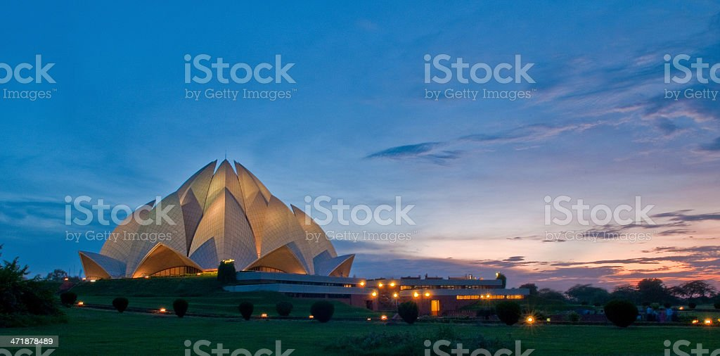 ~the lotus temple stock photo