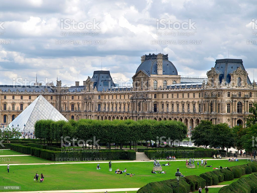 The Louvre stock photo