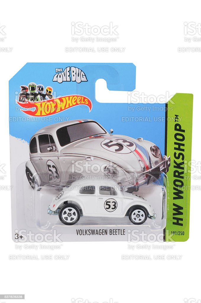 The Love Bug Volkswagen Beetle Hot Wheels Diecast Toy Car stock photo