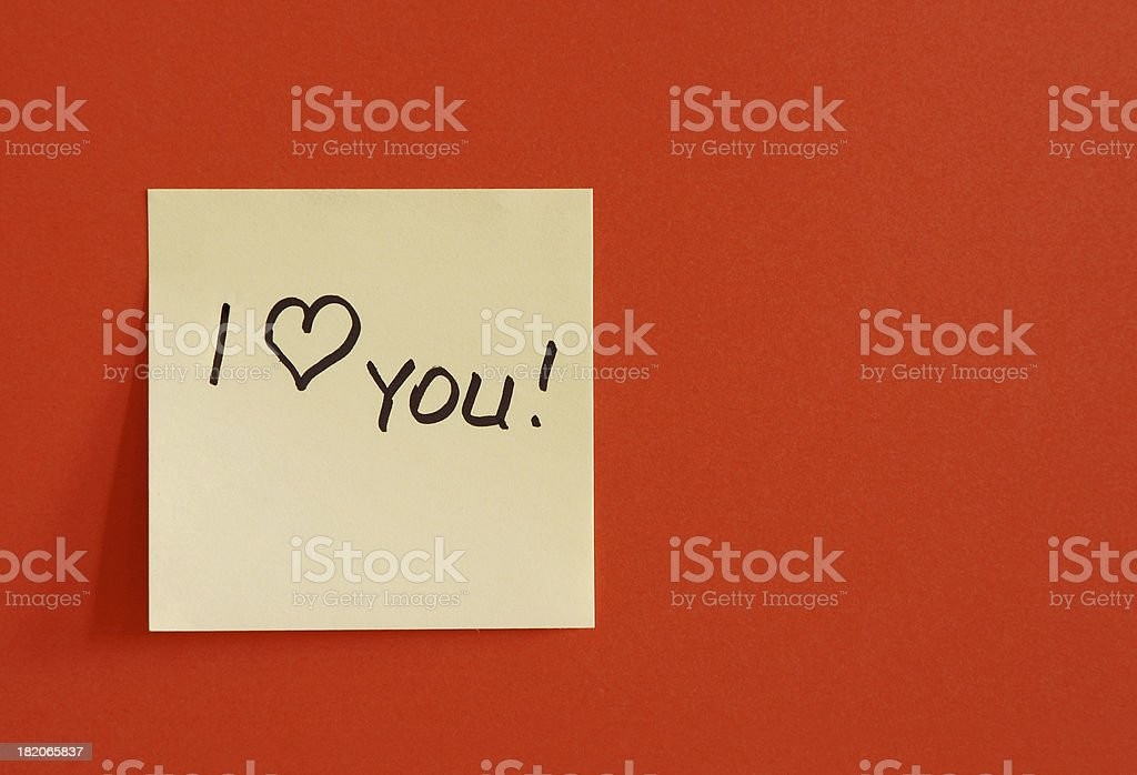 the love note royalty-free stock photo
