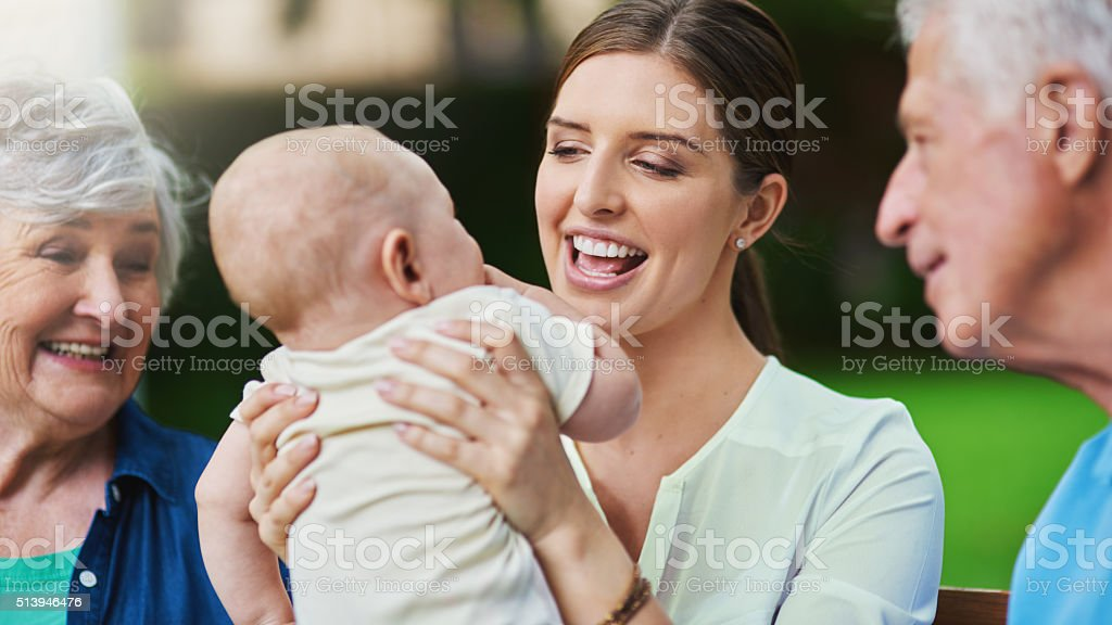 The love of a family makes life beautiful stock photo