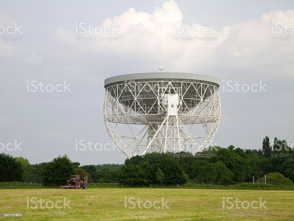 The Lovell Radio Telescope at Jodrell Bank, Cheshire stock photo