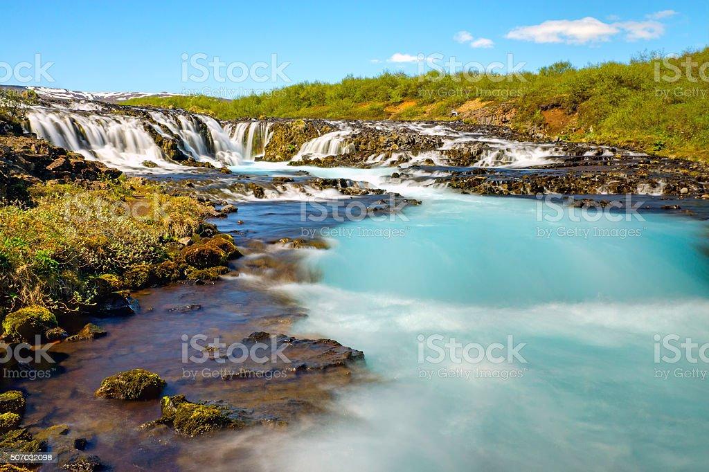 The lovely Bruarfoss waterfall stock photo