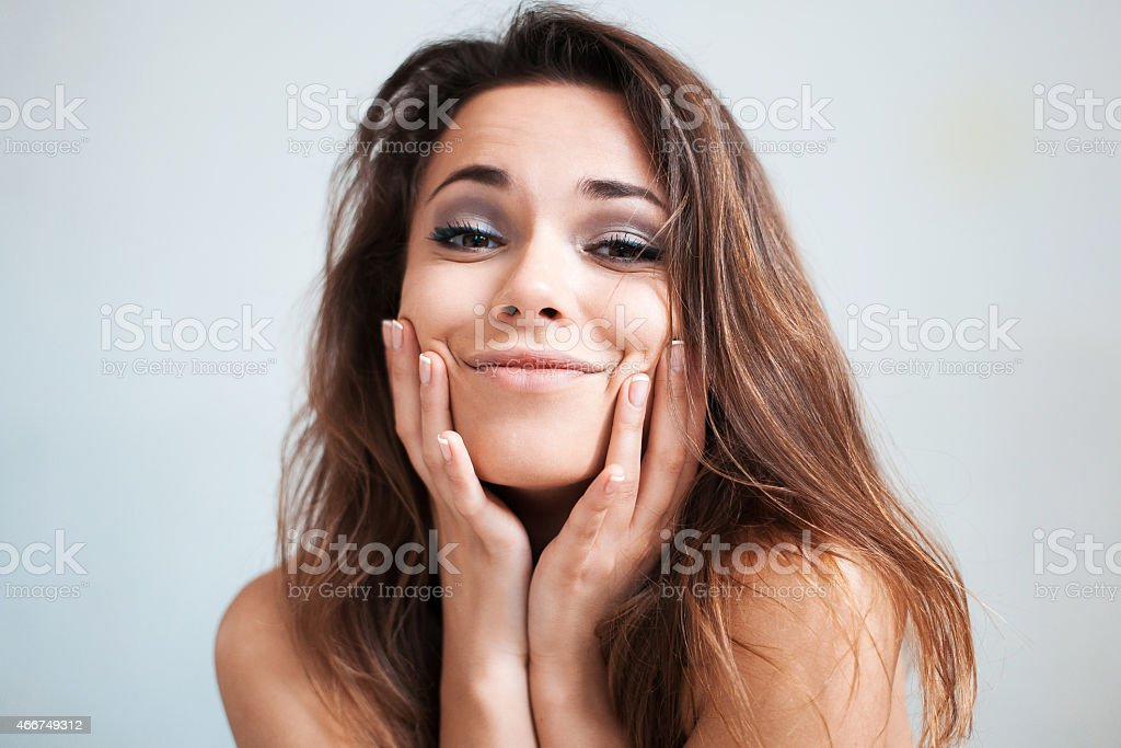 The lovely young girl makes advances stock photo