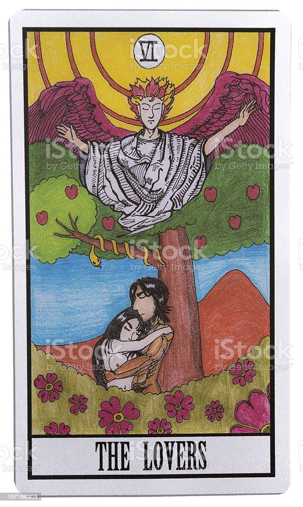 The Lover Tarot Card stock photo