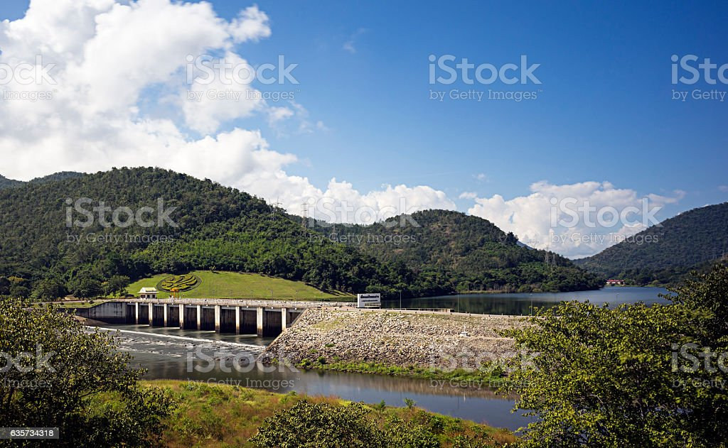 The lower Mae Ping Dam stock photo