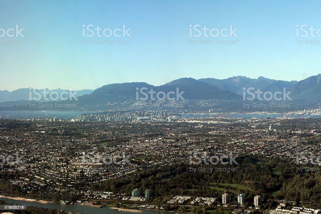 The Lower Mainland of British Columbia stock photo