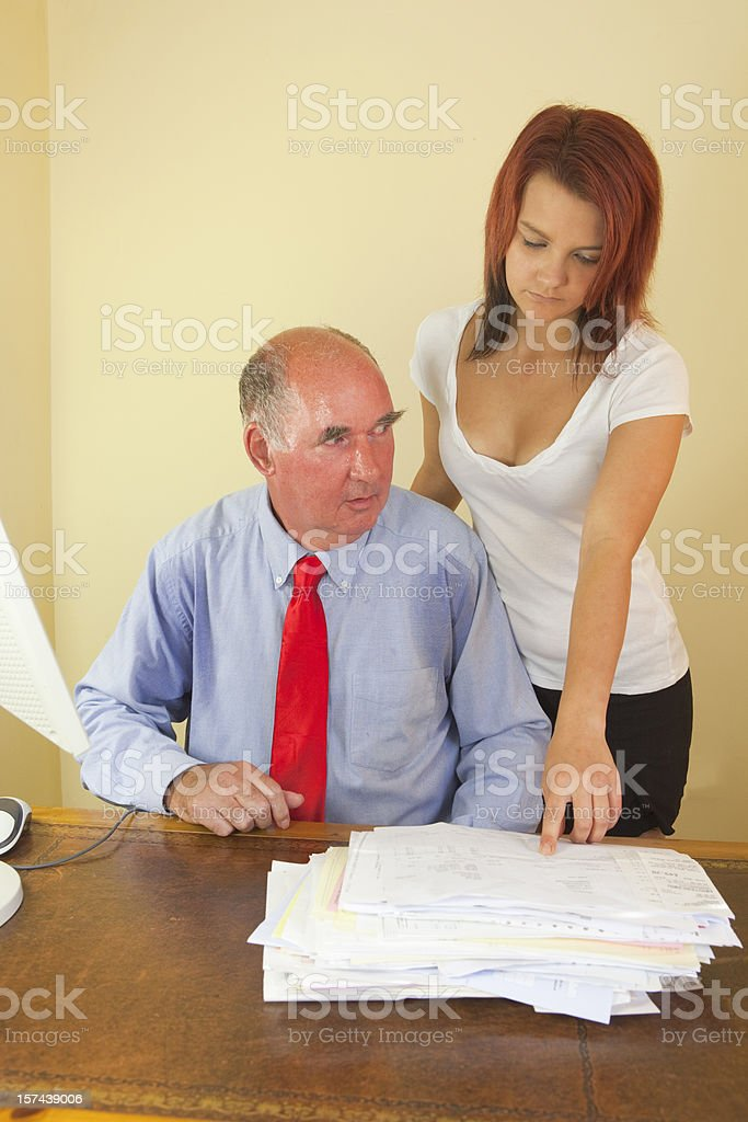 The Lustful Man stock photo