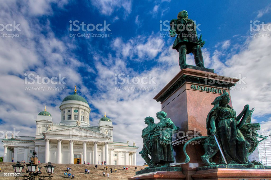 The Lutheran Cathedral in Helsinki, Finland stock photo