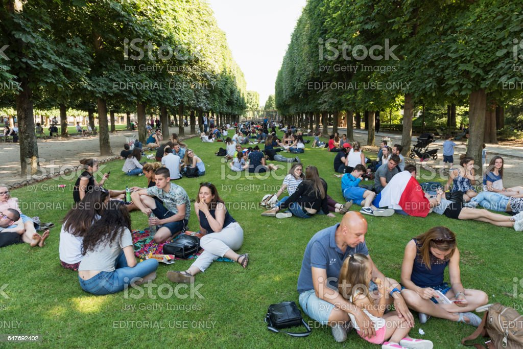 The Luxembourg Garden in Paris, France stock photo