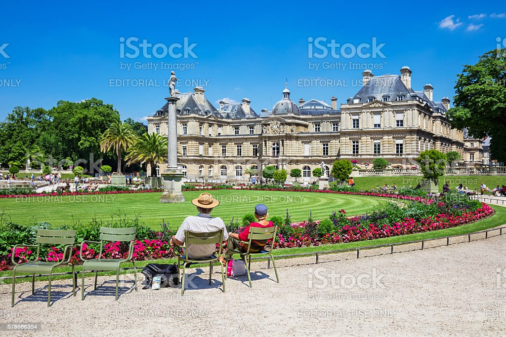 The Luxembourg Palace in Luxembourg Gardens, Paris, France stock photo