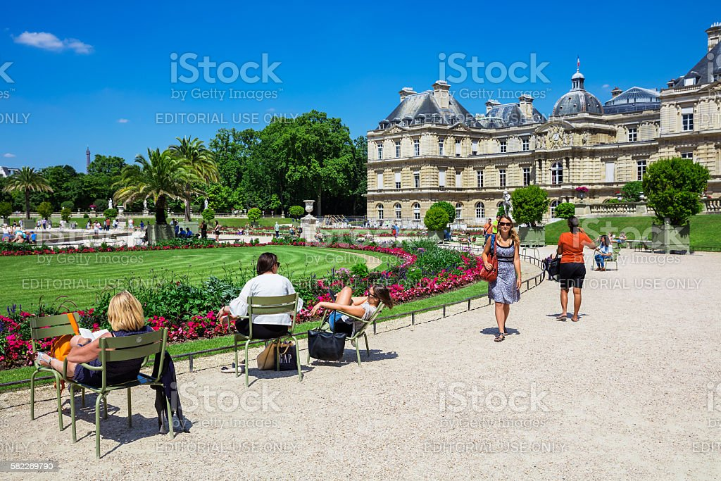 The Luxembourg Palace in Luxembourg Gardens, Paris, France royalty-free stock photo