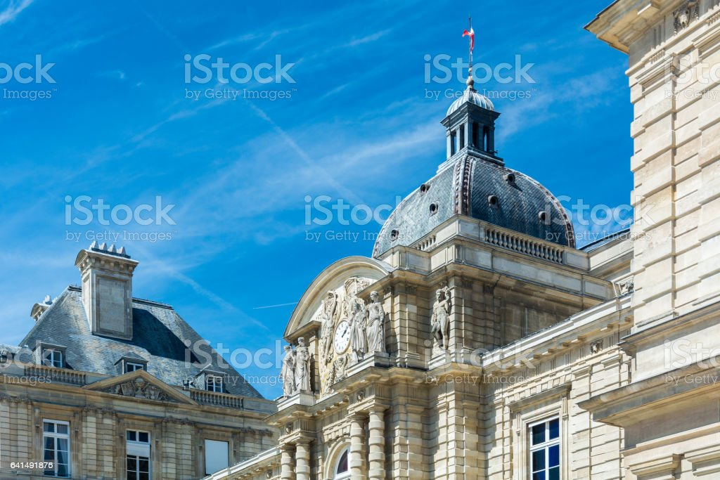 The Luxembourg Palace in Paris stock photo