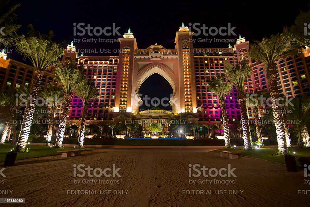 The Luxushotel Atlantis The Palm in Dubai stock photo