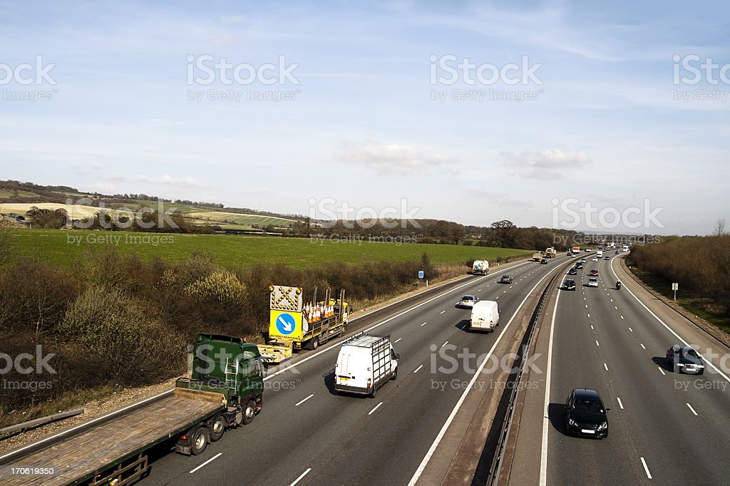 The M25 Motorway royalty-free stock photo