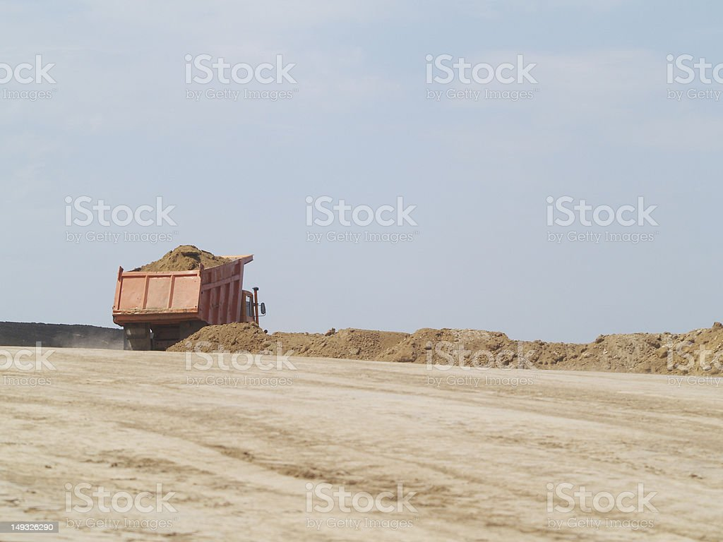 The machine of sand royalty-free stock photo